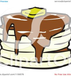 clipart stack of pancakes with syrup and butter royalty free vector illustration by cartoon solutions [ 1080 x 1024 Pixel ]