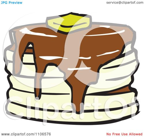 small resolution of clipart stack of pancakes with syrup and butter royalty free vector illustration by cartoon solutions
