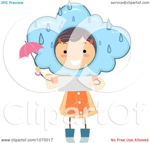 small resolution of clipart stick girl reading a rainy weather forecast royalty free vector illustration by bnp design studio