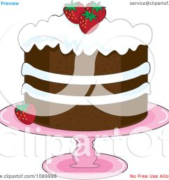 clipart strawberry shortcake with whipped cream icing and garnished with fresh strawberries royalty free vector [ 1080 x 1024 Pixel ]