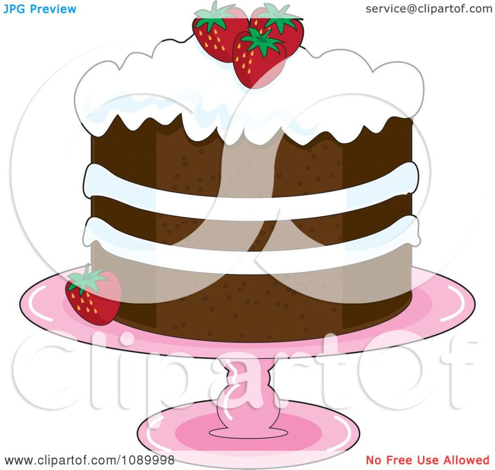 medium resolution of clipart strawberry shortcake with whipped cream icing and garnished with fresh strawberries royalty free vector