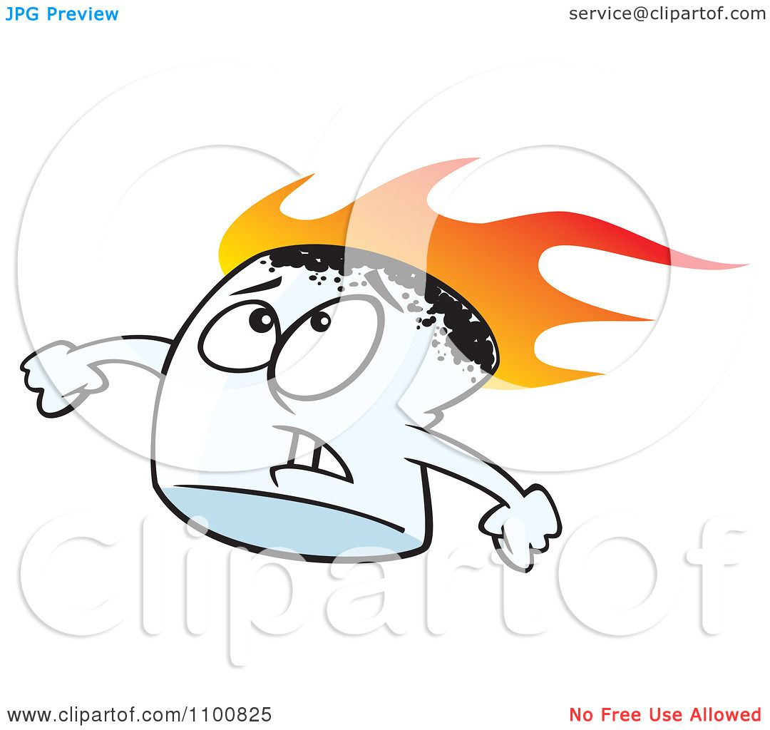 clipart stressed flaming marshmallow