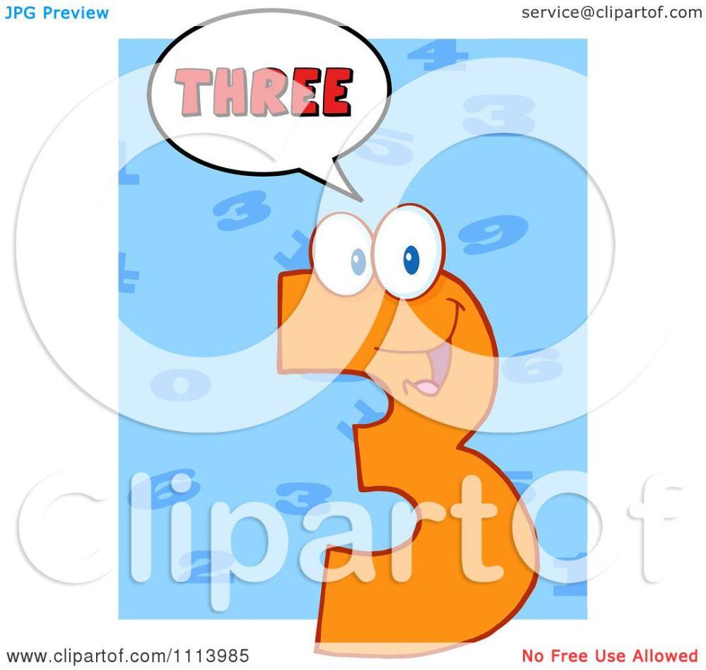medium resolution of clipart talking orange three mascot 3 royalty free vector illustration by hit toon