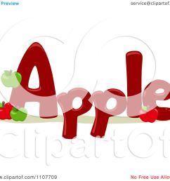 clipart the word apple for letter a royalty free vector illustration by bnp design studio [ 1080 x 1024 Pixel ]