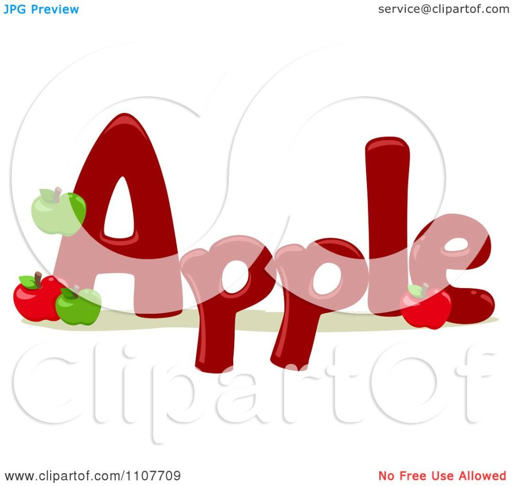 medium resolution of clipart the word apple for letter a royalty free vector illustration by bnp design studio