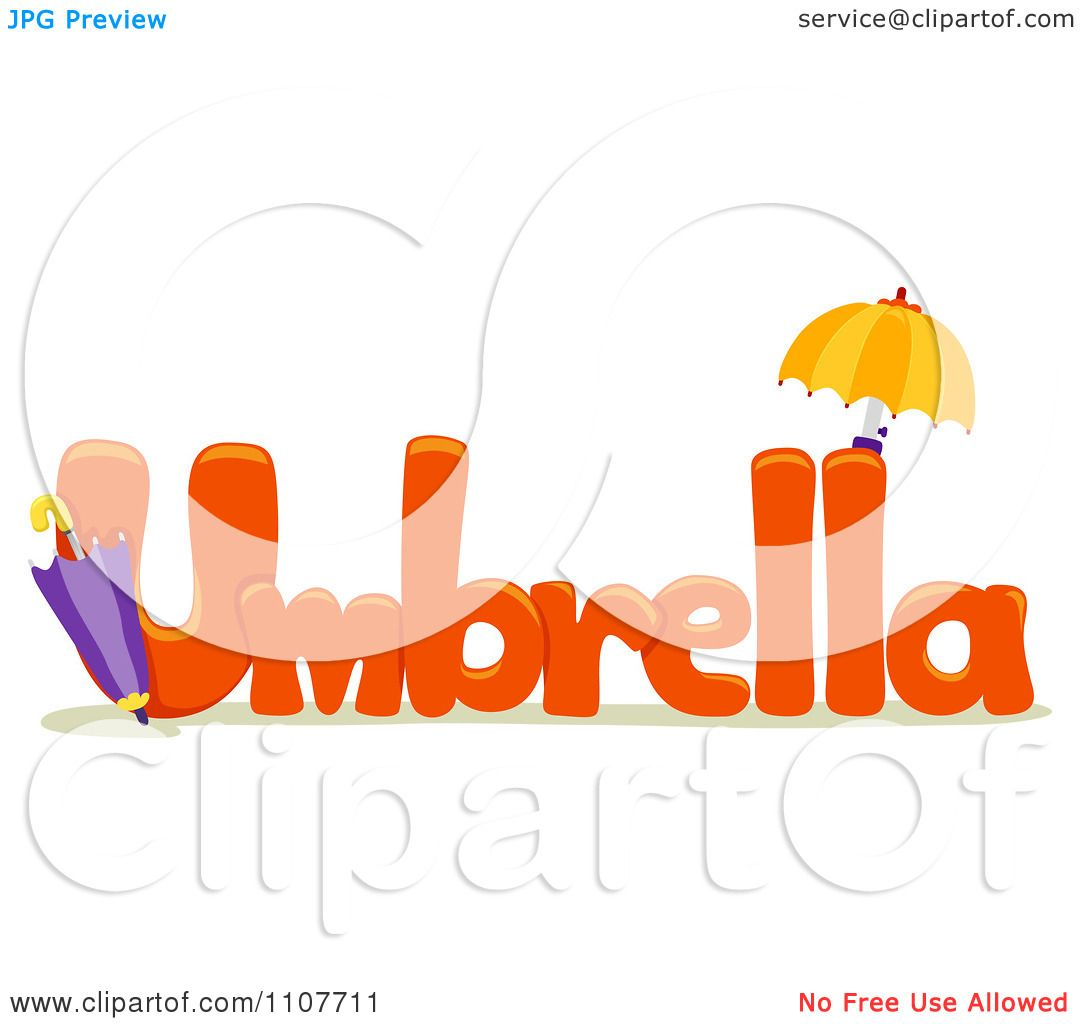 Clipart The Word Umbrella For Letter U