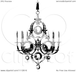 chandelier clipart royalty vector candles ornate prawny