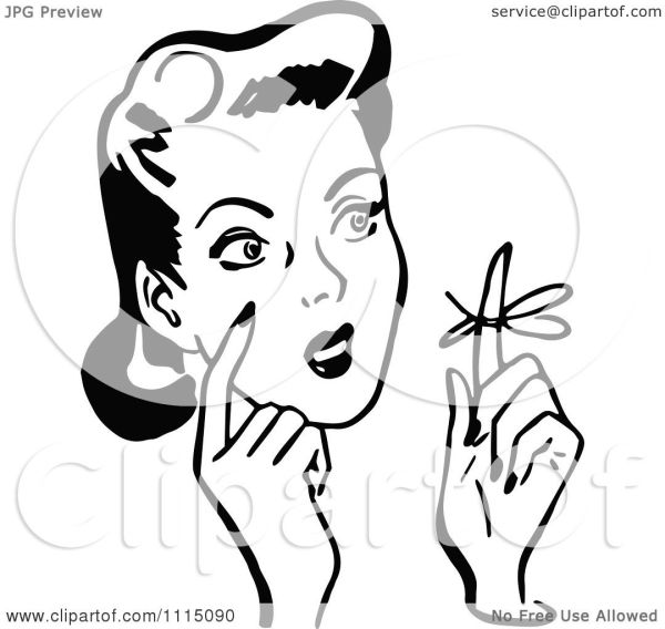 clipart vintage black and white