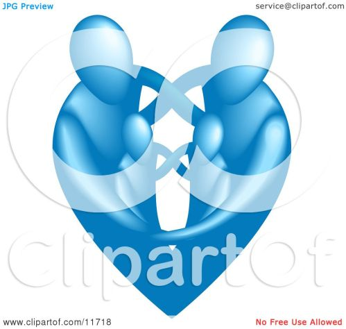 small resolution of family of four embracing and forming the shape of a blue heart clipart illustration by atstockillustration