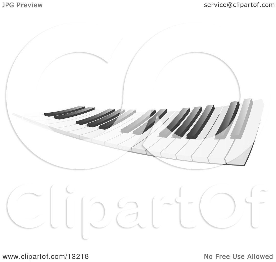 Flexible Piano Keyboard Clipart Illustration By Leo
