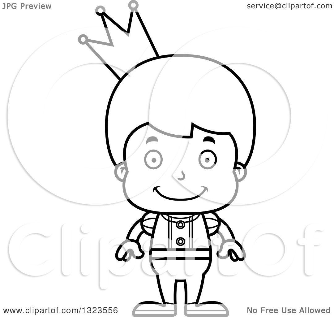 Prince outline. Prince and Princess Crown. 2019-02-21