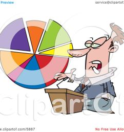 male business man standing at a podium discussing a pie chart clipart illustration by toonaday [ 1080 x 1024 Pixel ]