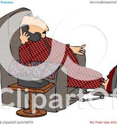 overweight couch potato man talking on a phone clipart by djart [ 1080 x 1024 Pixel ]