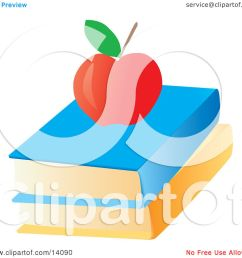 red apple on top of text books school clipart illustration by rasmussen images [ 1080 x 1024 Pixel ]