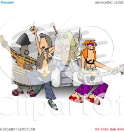 rock and roll band members playing music clipart by djart [ 1080 x 1024 Pixel ]