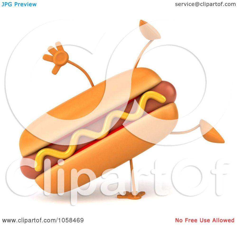medium resolution of royalty free cgi clip art illustration of a 3d hot dog character doing a cartwheel
