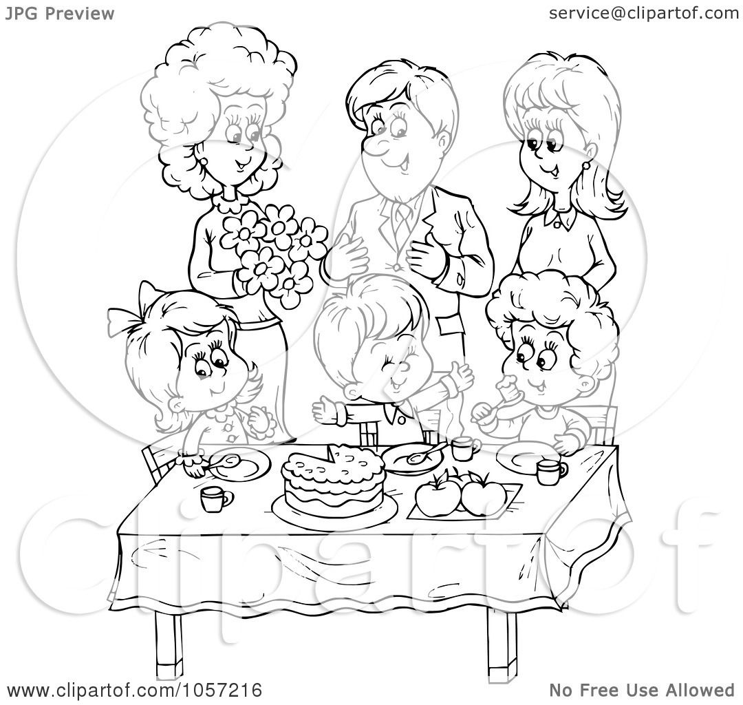 Royalty-Free Clip Art Illustration of a Coloring Page