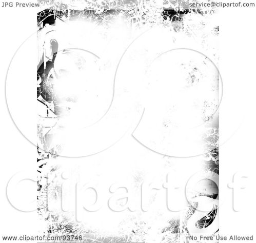small resolution of royalty free clipart illustration of a white background with a border of grungy black marks by arena creative