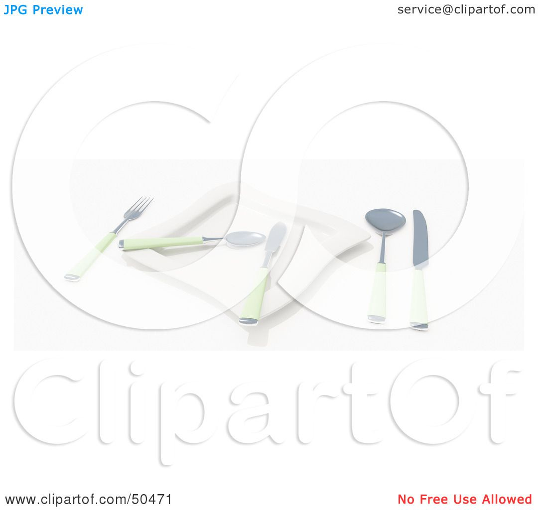 Royalty Free Rf 3d Clipart Illustration Of A Table Place