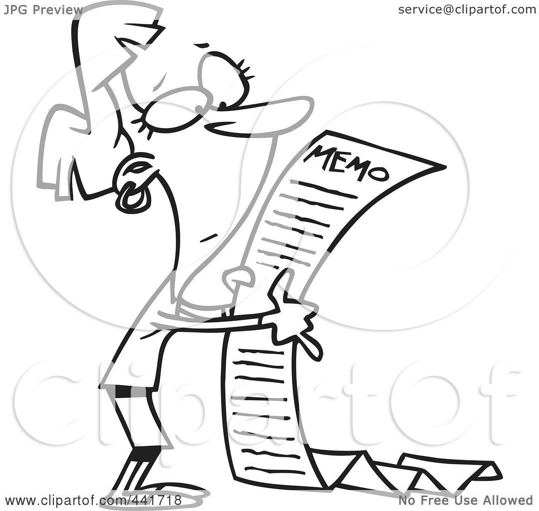 Royalty-Free (RF) Clip Art Illustration of a Cartoon Black