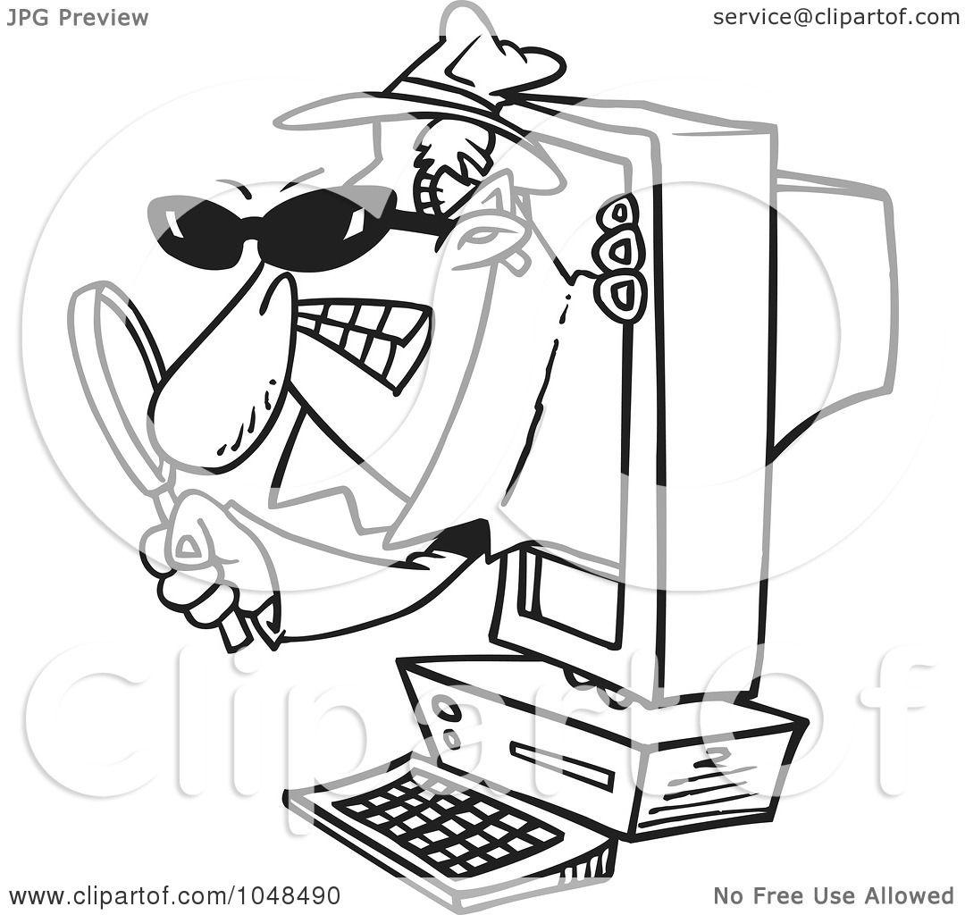 Spyware Clip Art