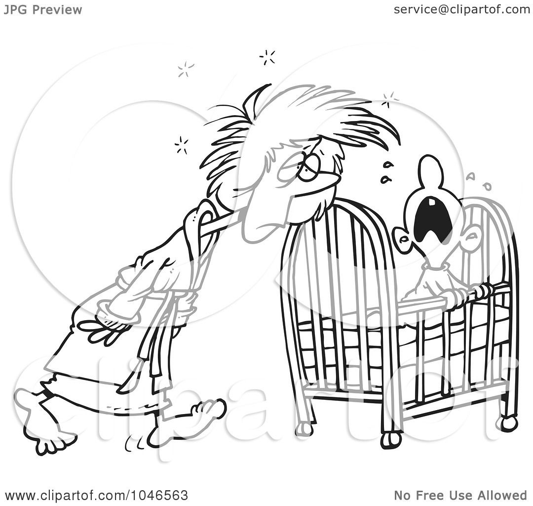 Baby Crib Cartoon