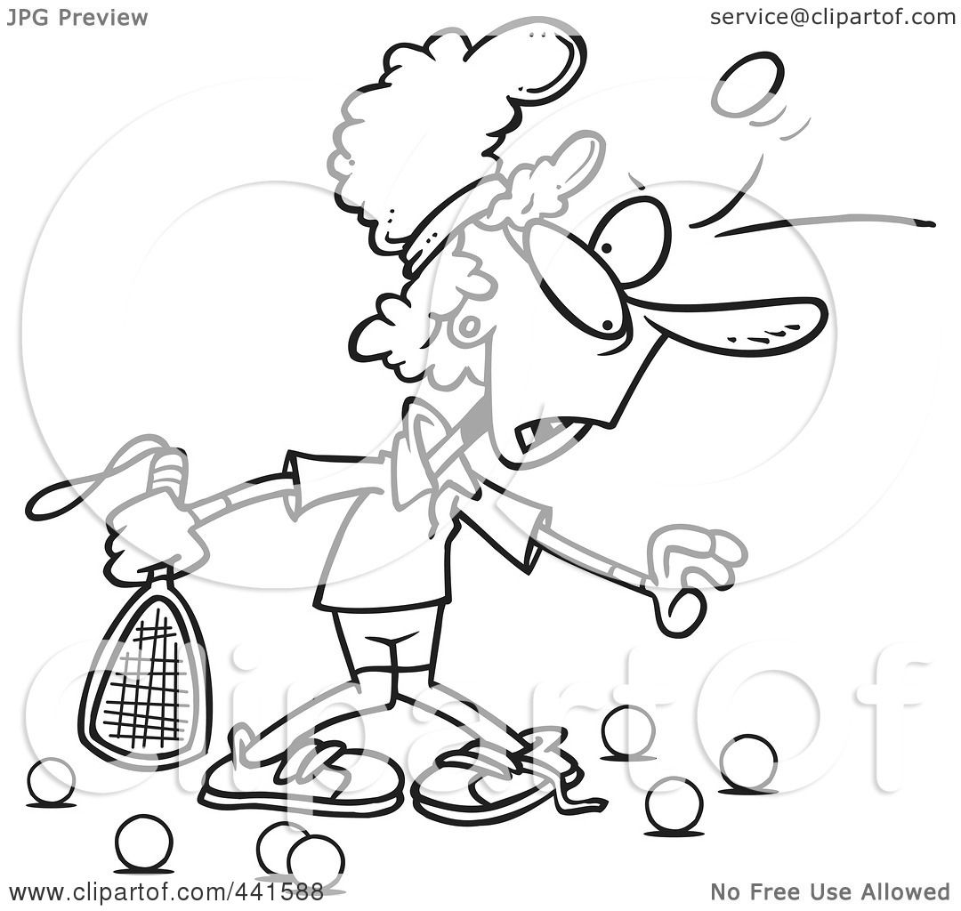 hight resolution of royalty free rf clip art illustration of a cartoon black and white outline design of a woman getting bruised during racquetball by toonaday