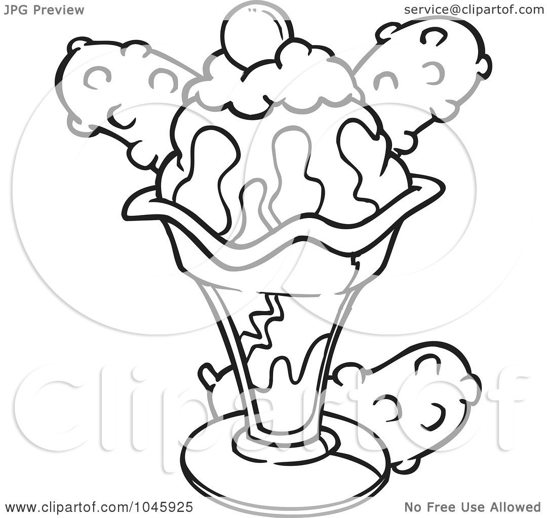 Sundae Coloring Pages