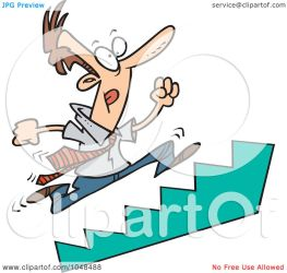 stairs cartoon running clip businessman toonaday illustration royalty rf clipart