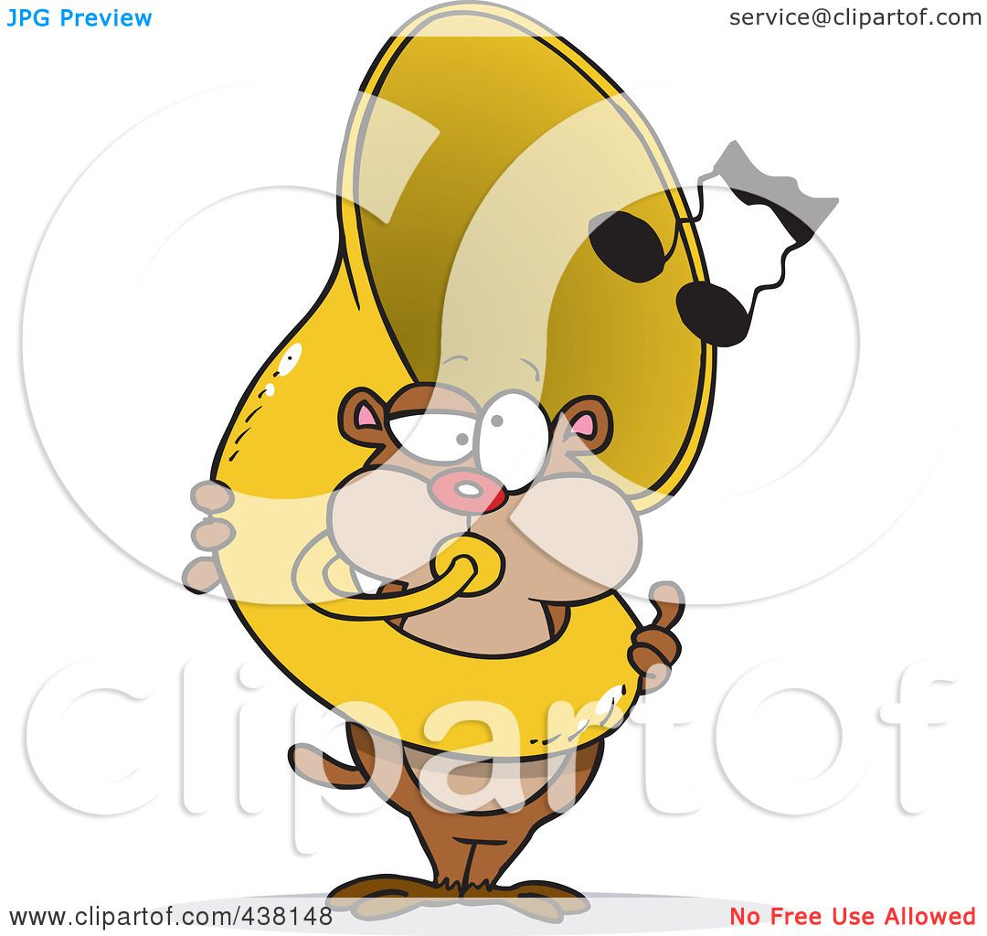 hight resolution of royalty free rf clip art illustration of a cartoon gopher playing a tuba by toonaday