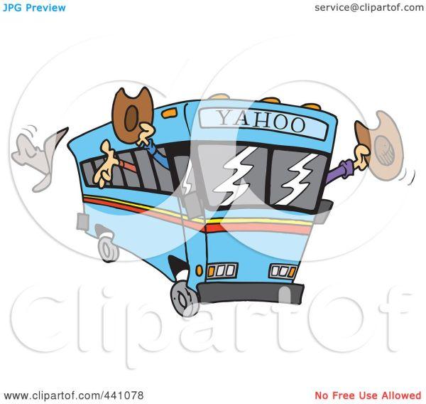 Royalty-free Rf Clip Art Illustration Of Cartoon Yahoo