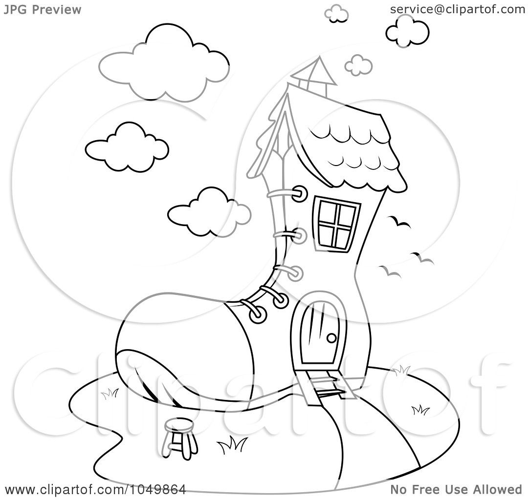 Royalty-Free (RF) Clip Art Illustration of a Coloring Page
