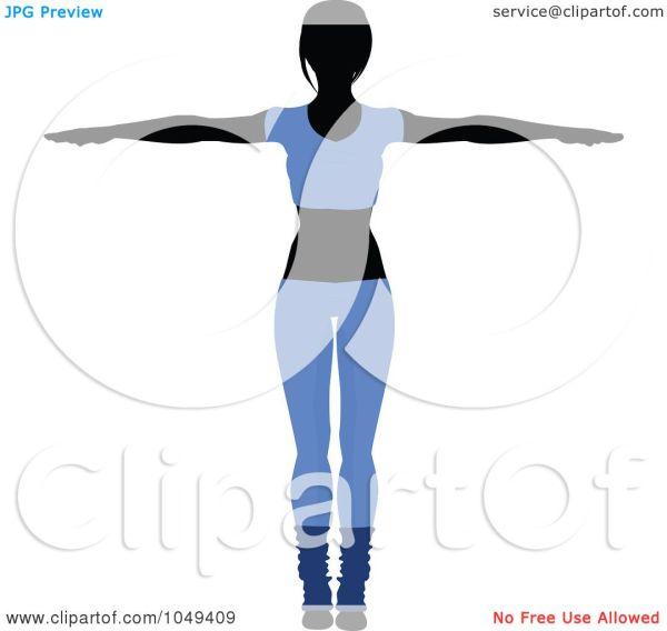 Royalty-free Rf Clip Art Illustration Of Fitness Woman