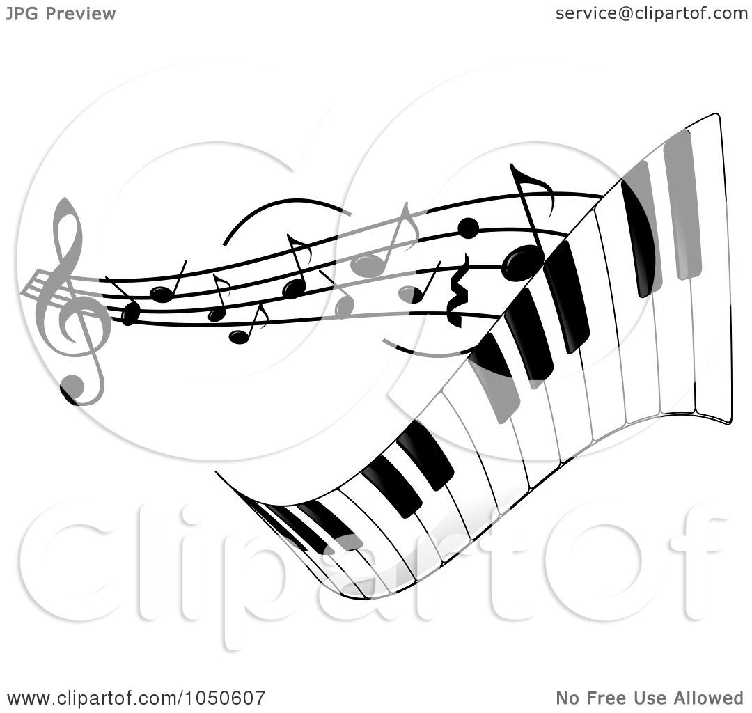 Royalty Free Rf Clip Art Illustration Of A Wavy Keyboard