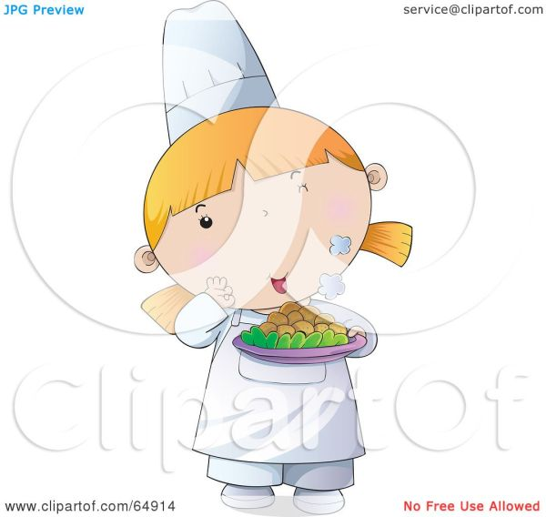 Royalty-free Rf Clip Art Illustration Of Young Female