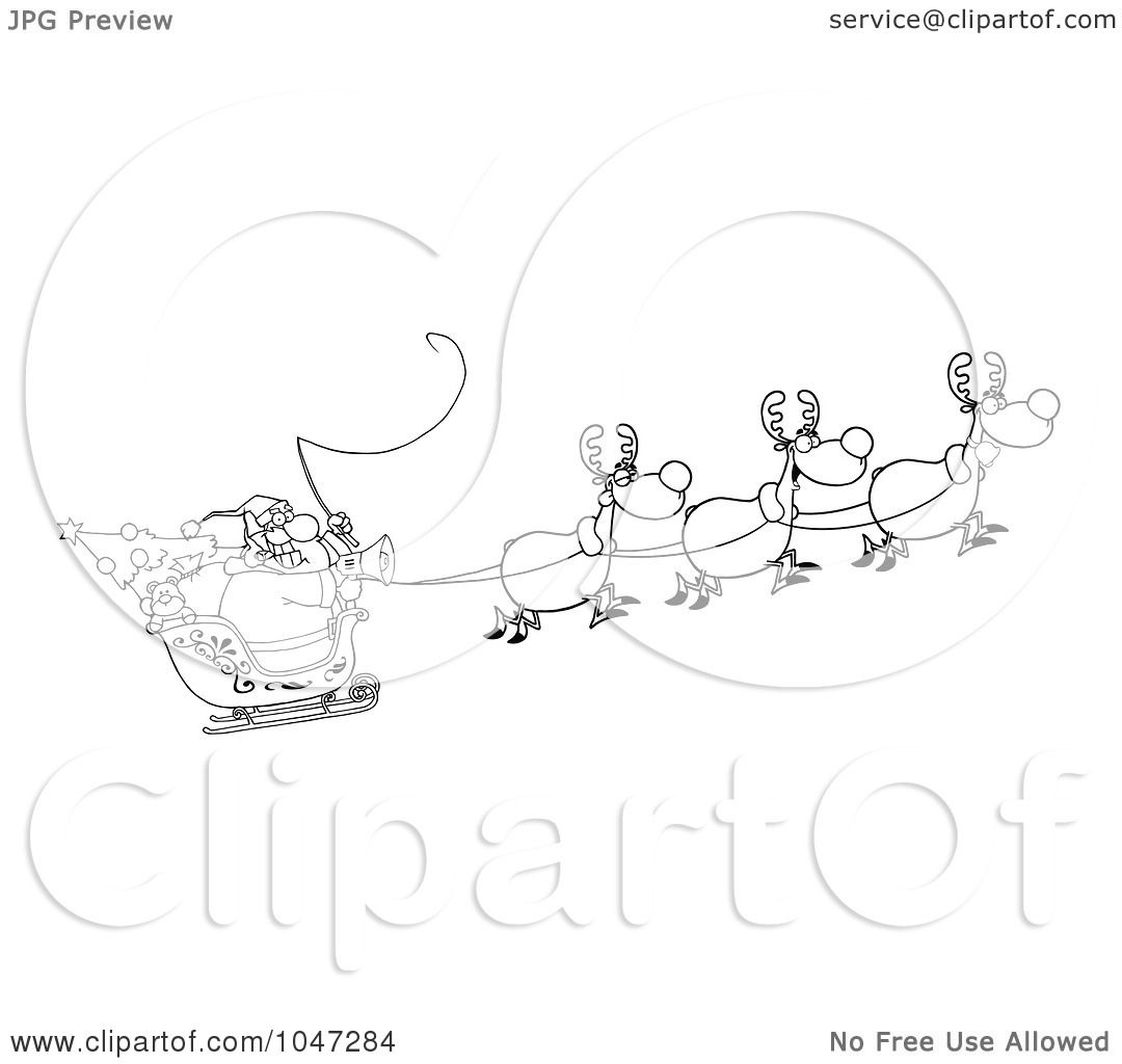 Royalty Free Rf Clip Art Illustration Of An Outline Of