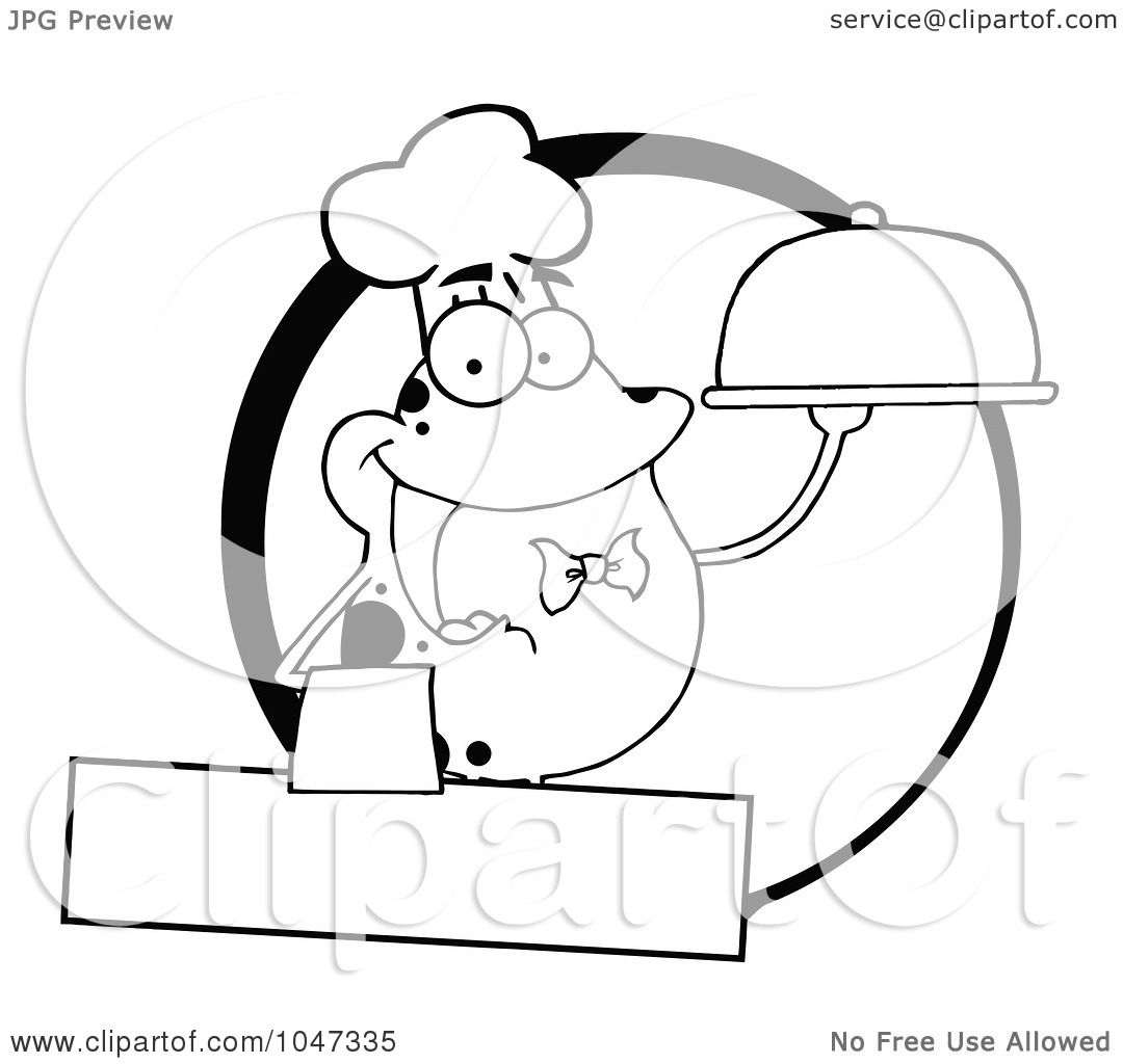 Royalty Free Rf Clip Art Illustration Of An Outlined
