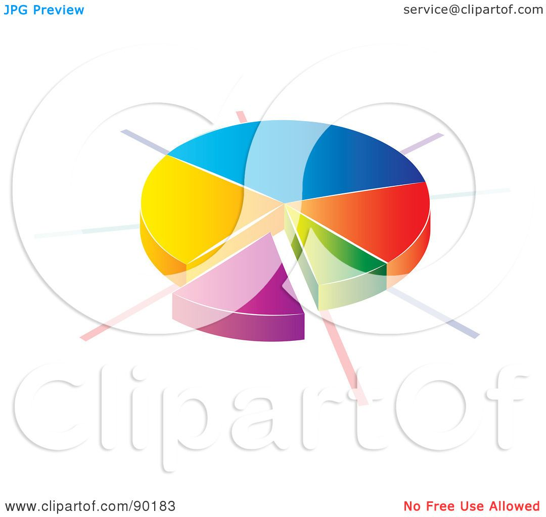 hight resolution of royalty free rf clipart illustration of a 3d divided pie chart statistic app icon by milsiart