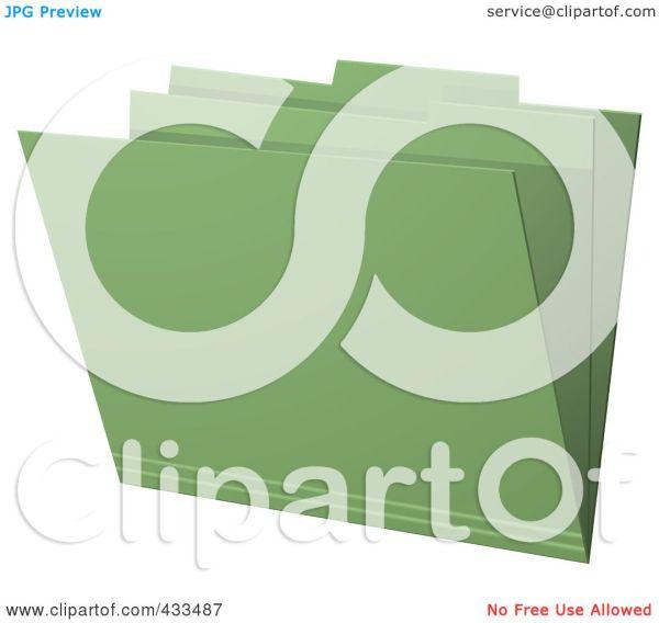 RoyaltyFree RF Clipart Illustration Of A 3d Green