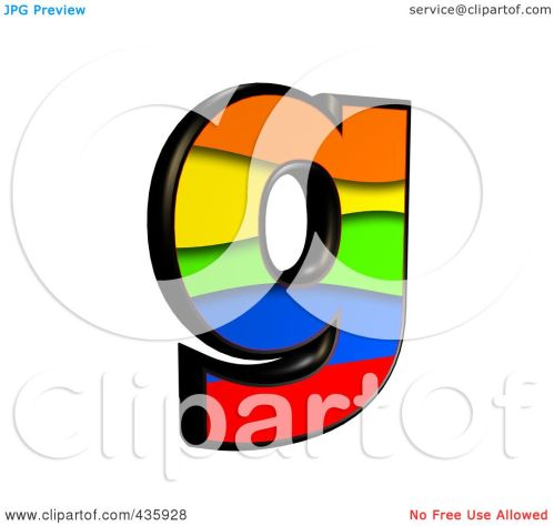 small resolution of royalty free rf clipart illustration of a 3d rainbow symbol lowercase letter g by chrisroll