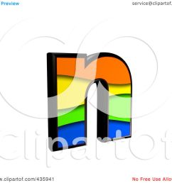 royalty free rf clipart illustration of a 3d rainbow symbol lowercase letter n by chrisroll [ 1080 x 1024 Pixel ]