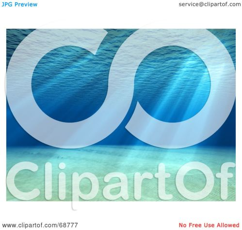 small resolution of royalty free rf clipart illustration of a 3d underwater scene with light shining through the surface by shazamimages