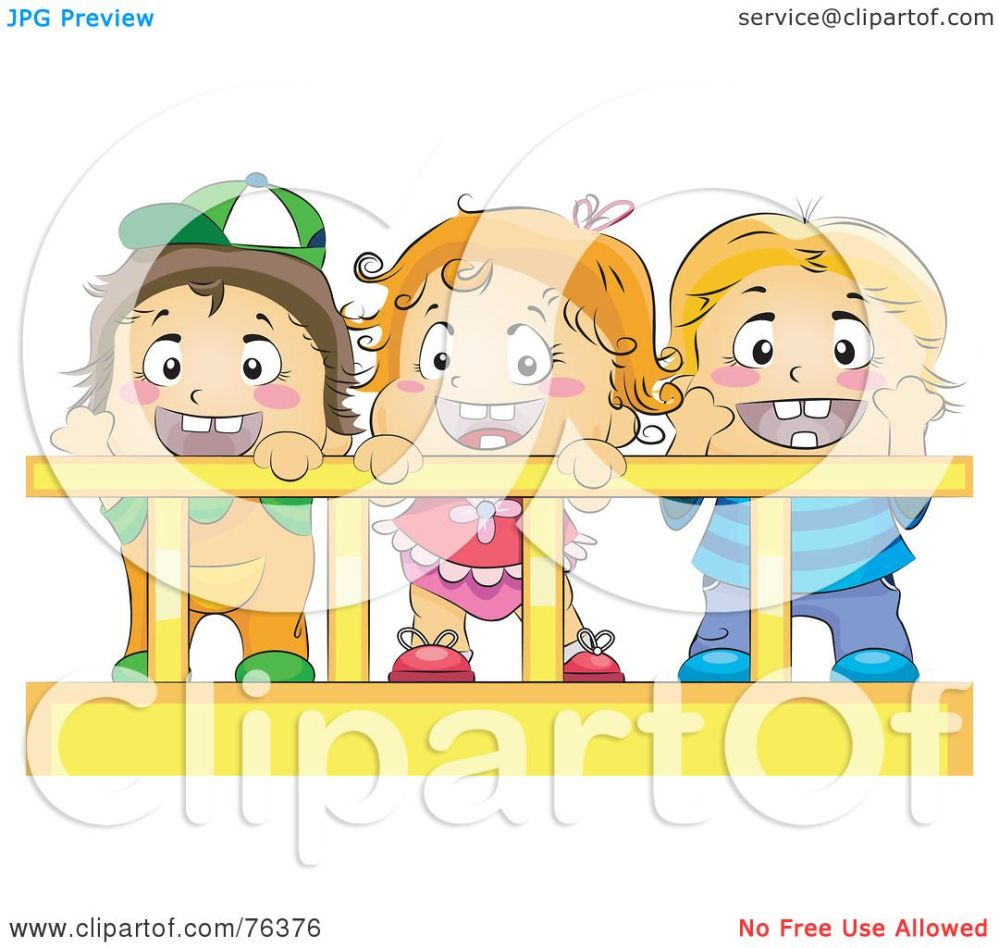 medium resolution of royalty free rf clipart illustration of a baby girl and her brothers or friends in a crib by bnp design studio