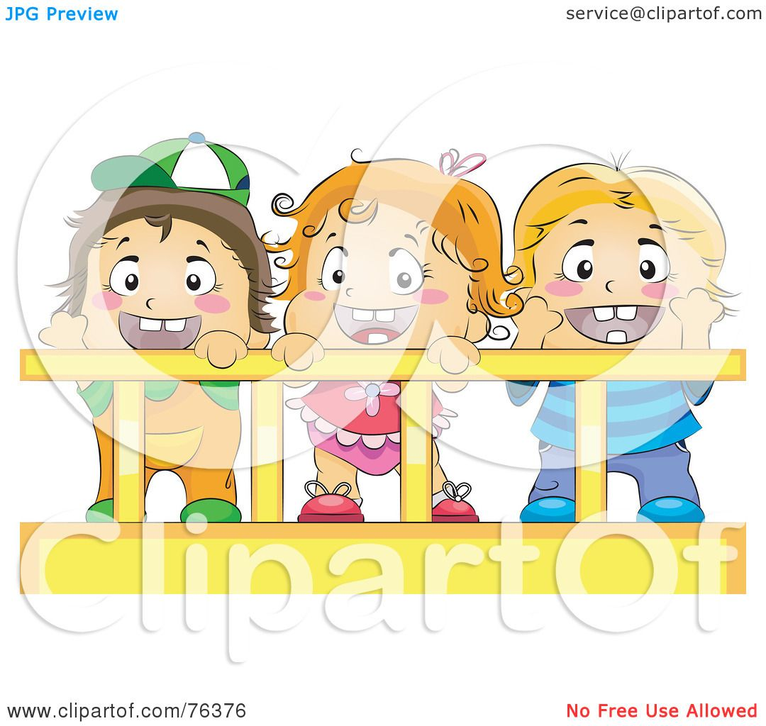 hight resolution of royalty free rf clipart illustration of a baby girl and her brothers or friends in a crib by bnp design studio