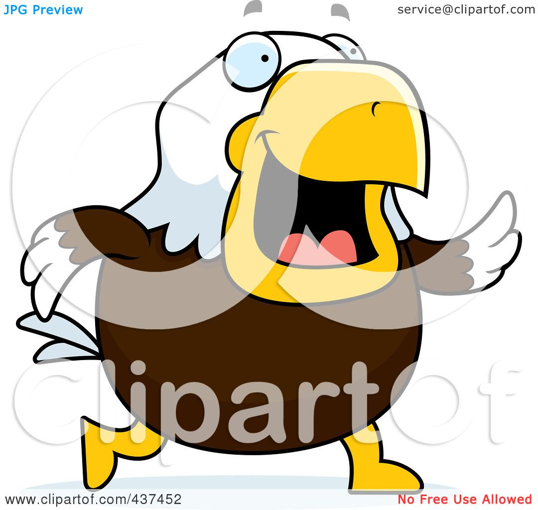 hight resolution of royalty free rf clipart illustration of a bald eagle walking by cory thoman