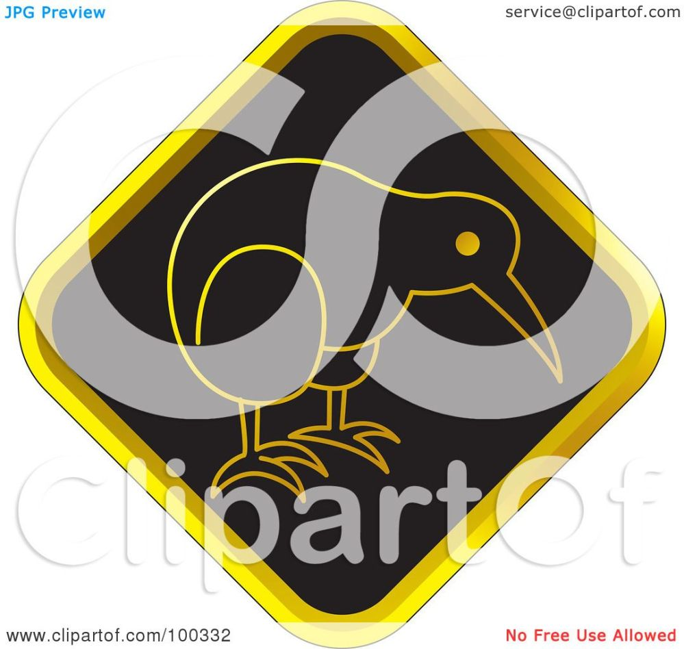medium resolution of royalty free rf clipart illustration of a black and gold kiwi bird icon by lal perera