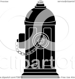royalty free rf clipart illustration of a black and white fire hydrant with [ 1080 x 1024 Pixel ]