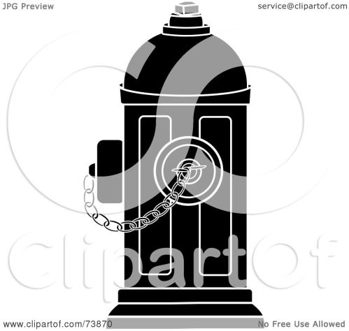 small resolution of royalty free rf clipart illustration of a black and white fire hydrant with