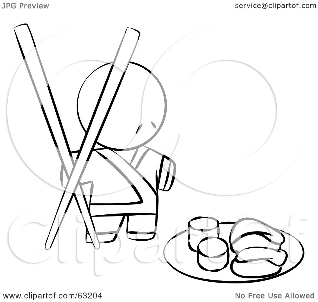Chinese Chopsticks Coloring Page Coloring Pages