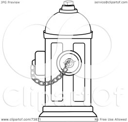 fire hydrant outline clipart chain pams illustration royalty rf notes chainimage